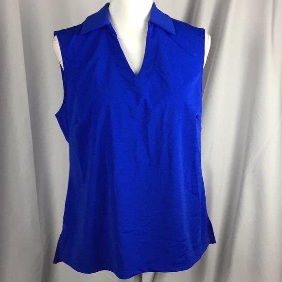 ba2cf87cb07ea Royal blue v neck collar sleeveless fitted B7